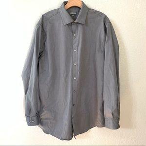 Kenneth Cole Slim Fit Button Up Shirt Sz 17 34-35